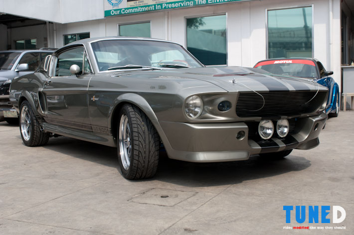 Project eleanor 1967 ford mustang tuned to achieve the eleanor inspired look the body was sprayed with du pont pepper gray metallic with du pont black metallic stripes a functional sc cobra publicscrutiny Gallery