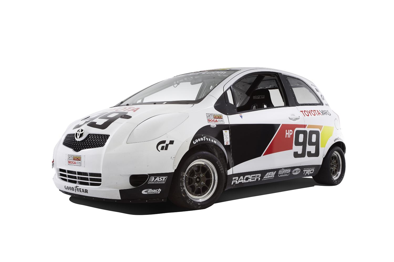 Stripped Yaris Race Car