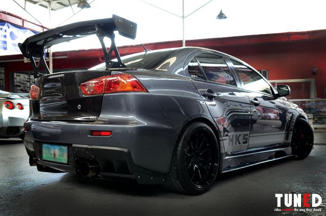 Evo X rear